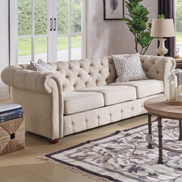 Knightsbridge Beige Chesterfield Sofa and Seating by iNSPIRE Q Artisan. Opens flyout.