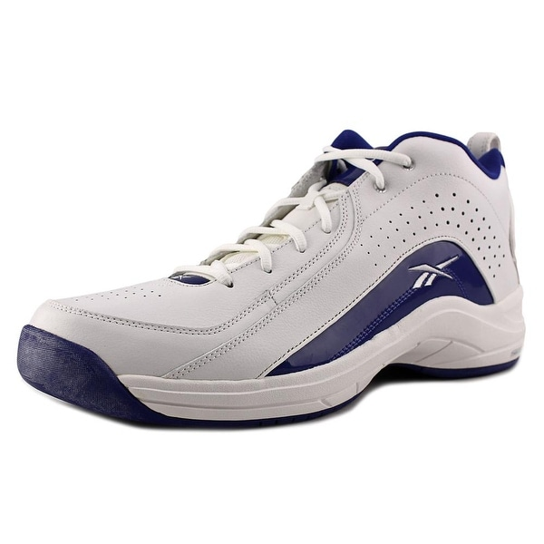Reebok Jump Ball Mid Round Toe Leather Basketball Shoe