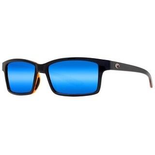 Costa del Mar Tern TE66OBMP Retro Tortoise Blue Mirror Polarized 580P Sunglasses - tortoise brown - 54mm-13mm-133mm