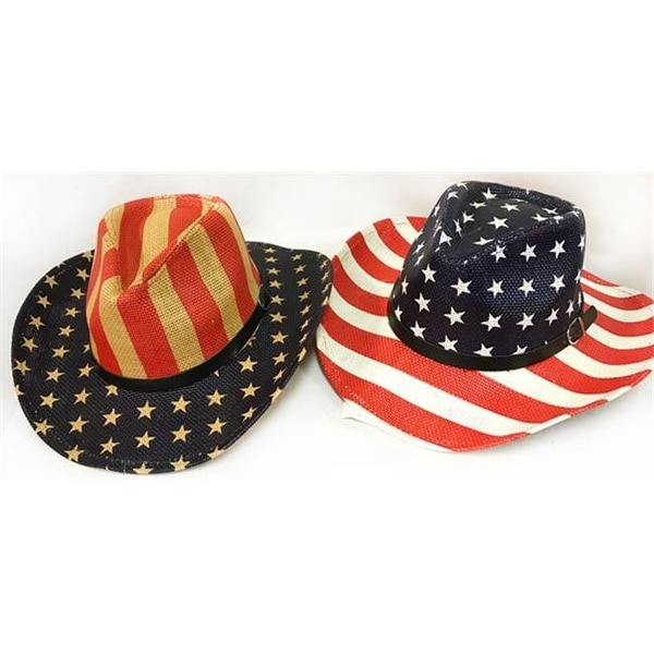 c0fe81c253af4 Shop DDI 2266087 Patriotic Flag Stars   Stripes Cowboy Hats Case of 12 -  Free Shipping Today - Overstock - 22936816