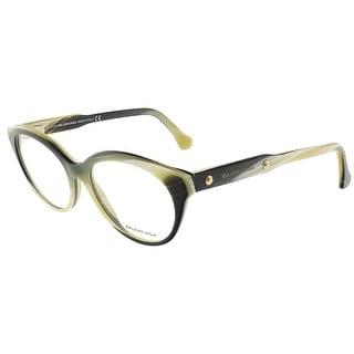 Balenciaga BA5001/V 064 Yellow Black Horn Round prescription-eyewear-frames
