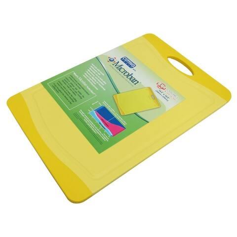 Microban Antimicrobial Cutting Board, Yellow, 14.5X10 Inches
