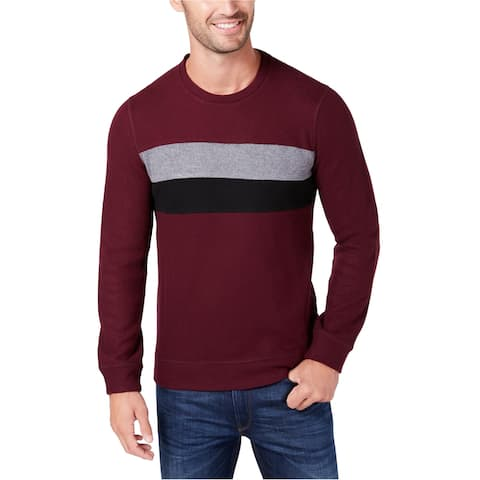 Kenneth Cole Mens Comfort Knit Sweatshirt, Red, Large