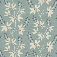 Brewster 2535-20614 Currant Blue Botanical Trail Wallpaper