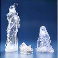 "Set of 3 Pieces of Holy Family Figurine 23.25"" - Clear"