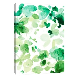 "PTM Images 9-108390  PTM Canvas Collection 10"" x 8"" - ""Butterfly Dance in Green C"" Giclee Abstract Art Print on Canvas"