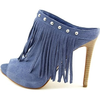 GUESS Womens Ara Leather Peep Toe Classic Pumps