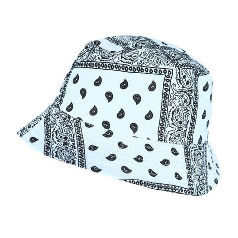 Do Everything in Love Women's Reversible Bandana Print to Solid Bucket Hat