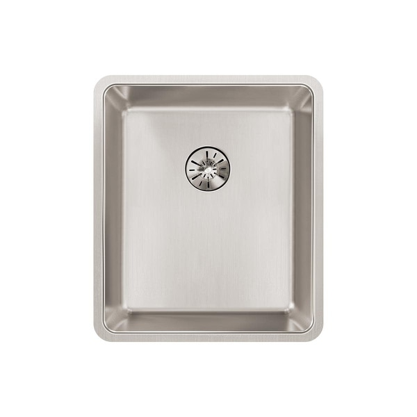 """Elkay ELUHH1316TPD Lustertone Iconix 16"""" Undermount Single Basin Stainless Steel Kitchen Sink with Perfect Drain and Sound"""