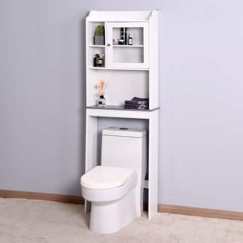 Nestfair White Wood Spcace Saver Cabinet