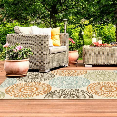 The Curated Nomad Wilson Multi-colored Indoor-Outdoor Area Rug