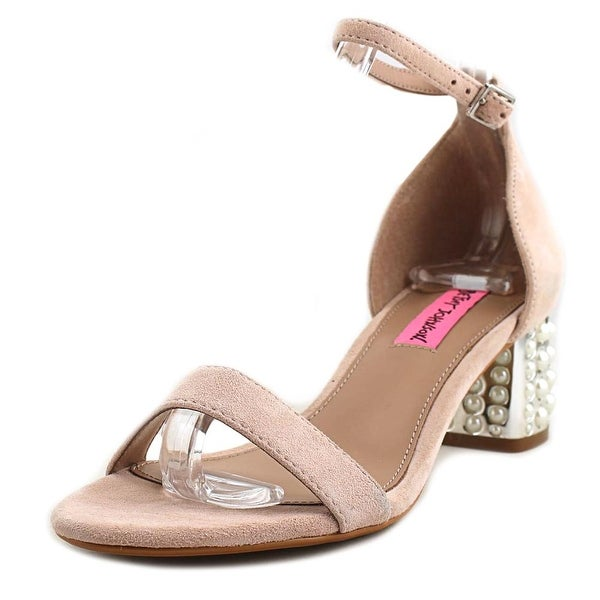 Betsey Johnson Nyla Women Open-Toe Leather Pink Heels