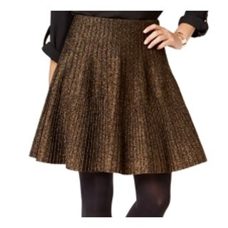 Grace Elements NEW Black Gold Women's Size Large L A-Line Shimmer Skirt