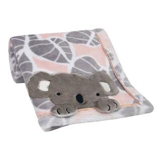 Link to Lambs & Ivy Calypso Pink/Gray Koala Leaf Print Luxury Coral Fleece Baby Blanket Similar Items in Baby Blankets