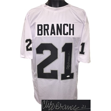 ec515cf6b5a Shop Cliff Branch signed White TB Custom Stitched Pro Style Football Jersey  21 JSA Witnessed Hologram - Free Shipping Today - Overstock - 21614103