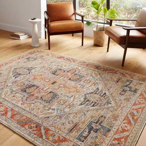 Alexander Home Luxe Antiqued Distressed Boho Area Rug