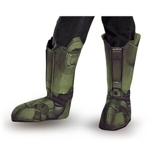 Halo Master Chief Costume Boot Covers Adult One Size - Green