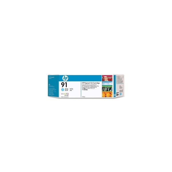 HP 91 775-ml Light Cyan DesignJet Pigment Ink Cartridge (C9470A) (Single Pack)