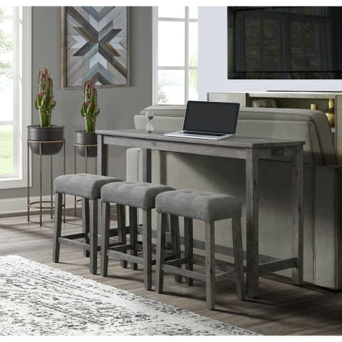 Picket House Furnishings Turner Multipurpose Bar Table Set in Grey