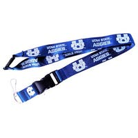 Utah State Aggies Lanyard Keychain Badge Holder NCAA - Blue