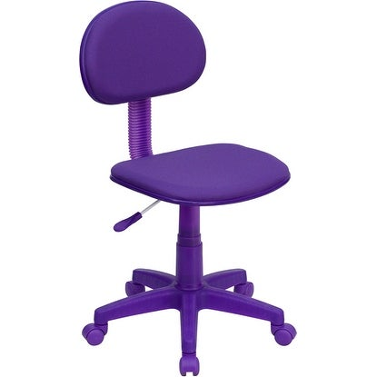 Silkeborg Purple Fabric Swivel Home/Office Task Chair