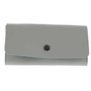Kenneth Cole Reaction Womens Clutch Wallet Pebbled Faux Leather