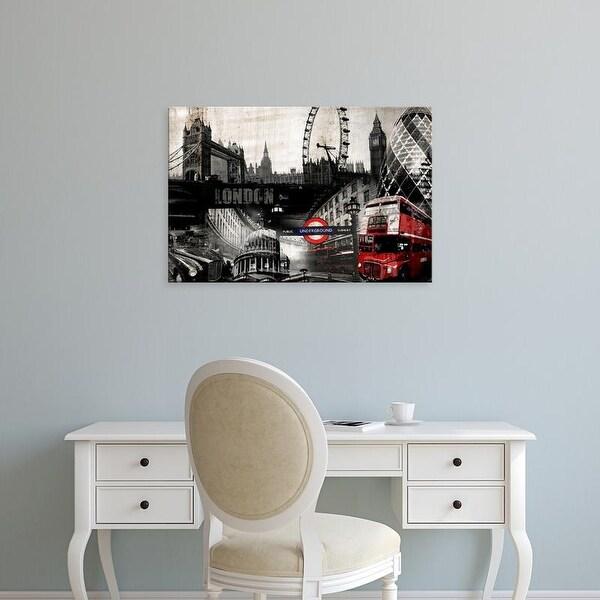 Easy Art Prints GraphINC's 'London' Premium Canvas Art