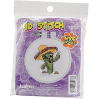 """Kid Stitch Carlos The Cactus Counted Cross Stitch Kit-3"""" Round 11 Count"""