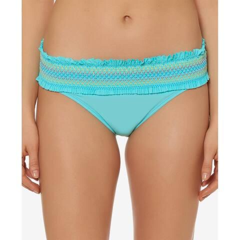 Bleu by Rod Beattie Stitched-Band Bikini Bottoms Womens 14 Bleu Fish