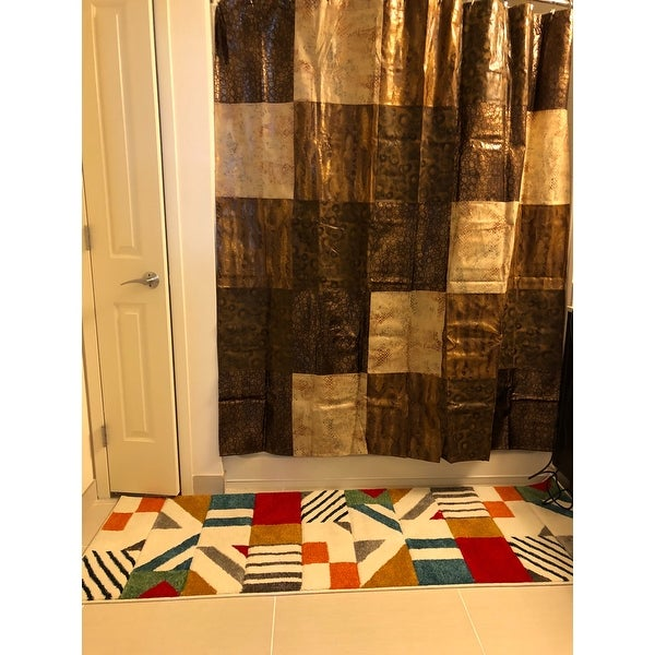 Shop Animal Print Faux Leather Shower Curtain And Hooks Set Or Separates