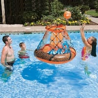 "48"" Jumbo Splash Point Inflatable Swimming Pool Floating Basketball Game - Orange"