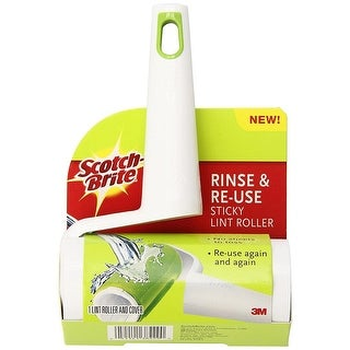 Scotch Brite Rinse and Re-use Sticky Lint Roller, Green