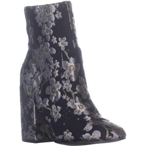 Indigo Rd. Brooke Block Heel Zip Up Boots, Pewter Multi - 8.5 US