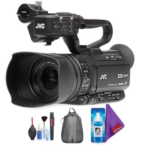 JVC GY-HM180 Ultra HD 4K Camcorder with HD-SDI + Pro Accessories Bundle
