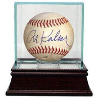 Al Kaline signed Official MLB Minor League Game Used Baseball w Glass Case Detroit Tigers