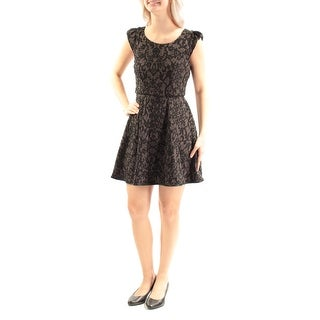EMERALD SUNDAE $39 Womens New 2018 Black Embroidered A-Line Dress 5 Juniors B+B