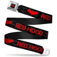 Red Hood Logo Full Color Black Red Hood Logo Weathered Black Gray Red Seatbelt Belt