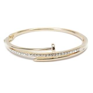 Potissi Crystal Nail Bangle Bracelet