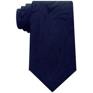 Michael Kors Blue Men's One Size Total Paisley Silk Neck Tie