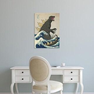Easy Art Prints Michael Buxton's 'The Great Monster off Kanagawa' Premium Canvas Art
