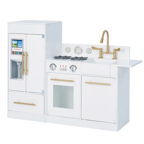 Teamson Kids - Little Chef Chelsea Modern Play Kitchen - White / Gold