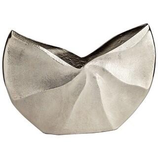 """Cyan Design Medium Varix Vase  Varix 8"""" Tall Aluminum Vase Made in India - Raw Nickel"""