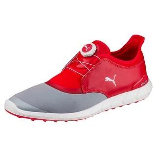 Puma Ignite Spikeless Sport Disc Quarry/High Risk Red Golf Shoes 189928-02