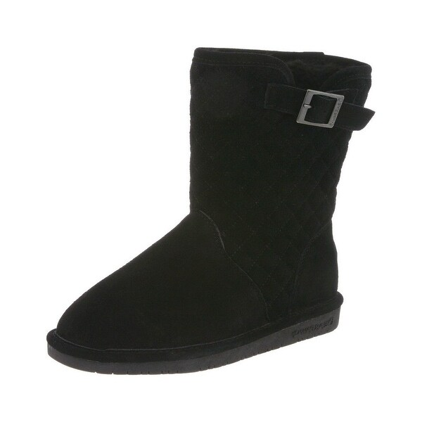 Bearpaw Boots Womens Sheepskin Quilted Leigh Anne Buckle