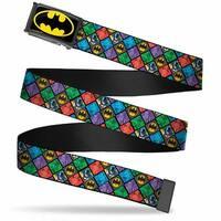 Batman Fcg Black Yellow Chrome Batman & Villains Checkers Shield Red Web Belt