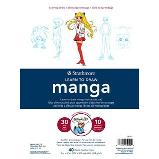 Strathmore Learn to Draw Instructional Pad, 9 x 12 Inches, Manga