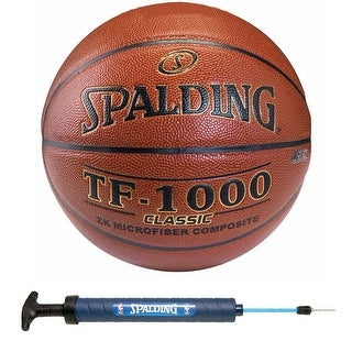Spalding TF-1000 Classic Indoor Basketball 28.5'' w/ 12'' Dual Action Pump
