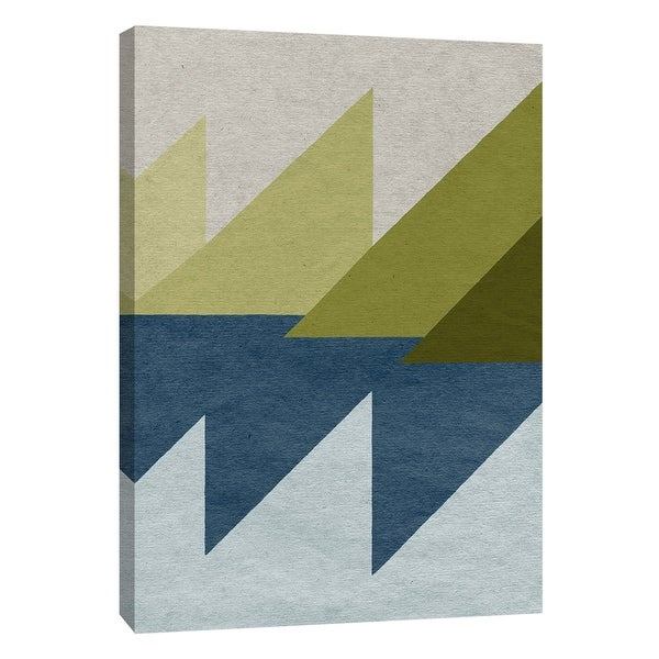"""PTM Images 9-108443 PTM Canvas Collection 10"""" x 8"""" - """"New Linen Geometrics D"""" Giclee Abstract Art Print on Canvas"""