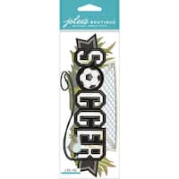 Jolee's Boutique Title Waves Dimensional Stickers-Soccer