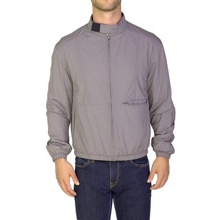 Prada Men's Nylon Polyester Blouson Zip-up Jacket Grey